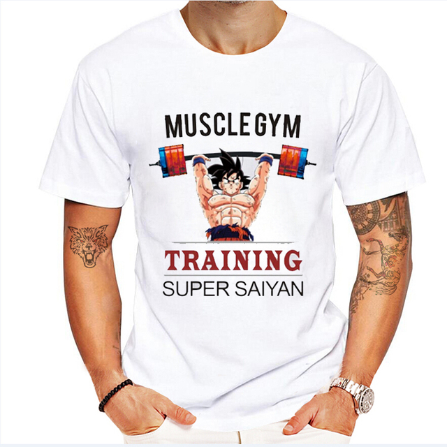 100% Cotton Muscle Dragon Ball Z Printed T-shirt
