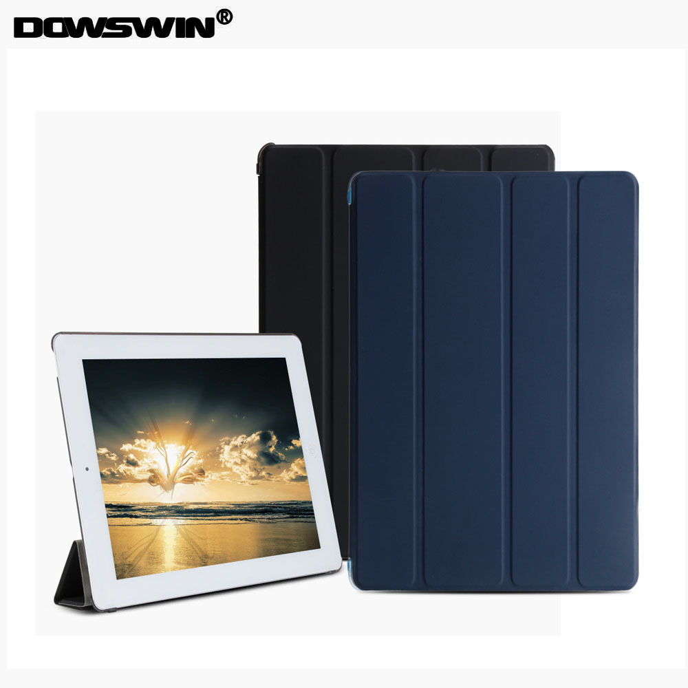 Cover for ipad 2 3 4 case,PU Smart cover for ipad 3,transparent PC back Cover for iPad 2 Cases ,for ipad 4 flip stand for ipad mini4 cover high quality soft tpu rubber back case for ipad mini 4 silicone back cover semi transparent case shell skin