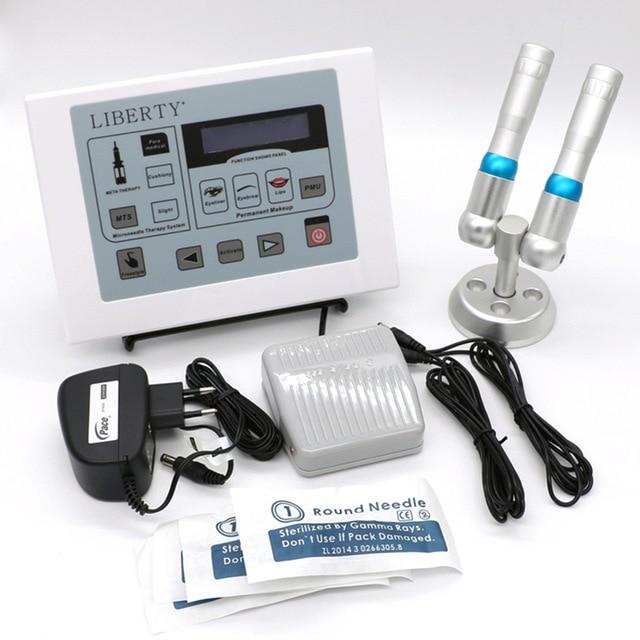 Dermographe Maquillage Permanent Makeup Digital 2 Tattoo Gun with Foot Switch Cosmetic Tattoo Needle Kit Microneedle Machine