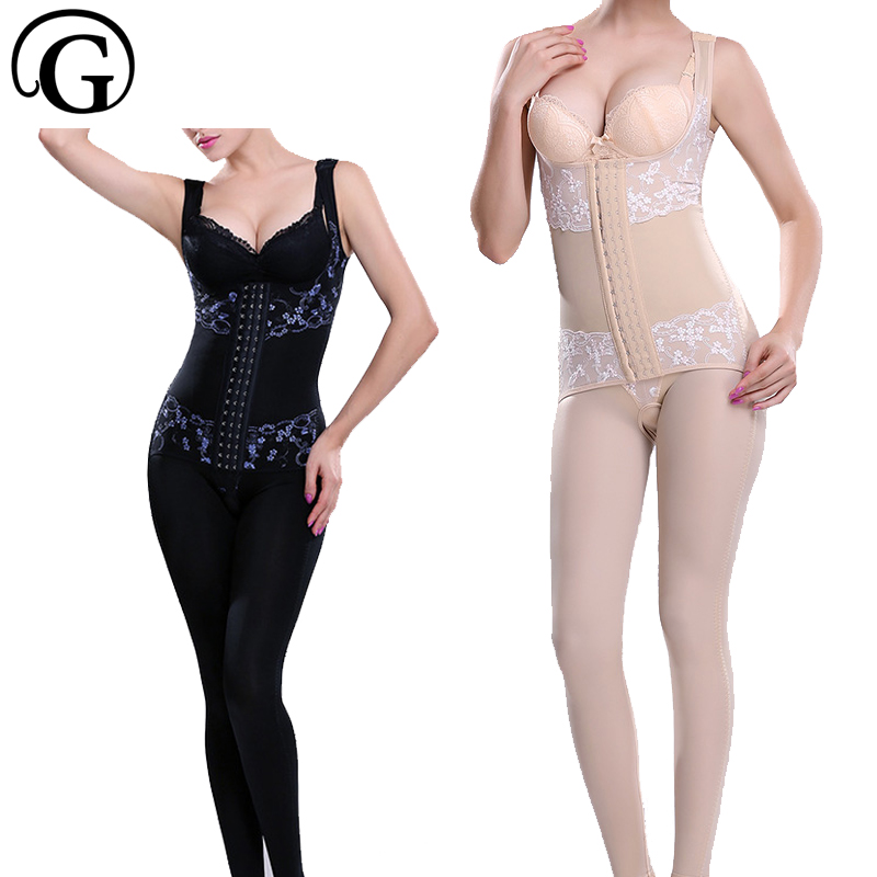 PRAYGER Women Recovery Body Shapewear Long Full Body Shapers Slimming Legs lift butt bodysuits High Quality Control Tummy simmer купить