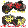 NEW Studded Motorcycle Saddle Bags waterproof Leather Motorcycle saddlebags leather tool bag MTB tail bag bolsa deposito moto