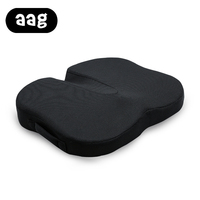 AAG Butterfly Shape Design Ergonomics Comfortable Seat Cushion For Home Office Bar Black Mesh Breathable Seat Cushion