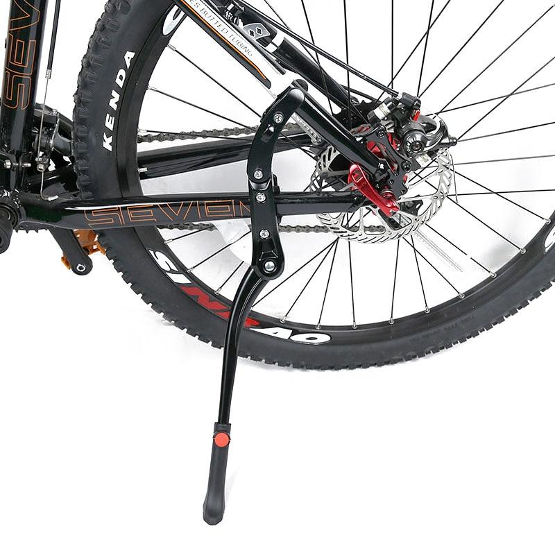 2015 nueva aleación de aluminio ajustable bike side Patas de bicicleta Ciclismo soporte lateral Bicicletas partidario estacionamiento rack Rod mountain bike parts