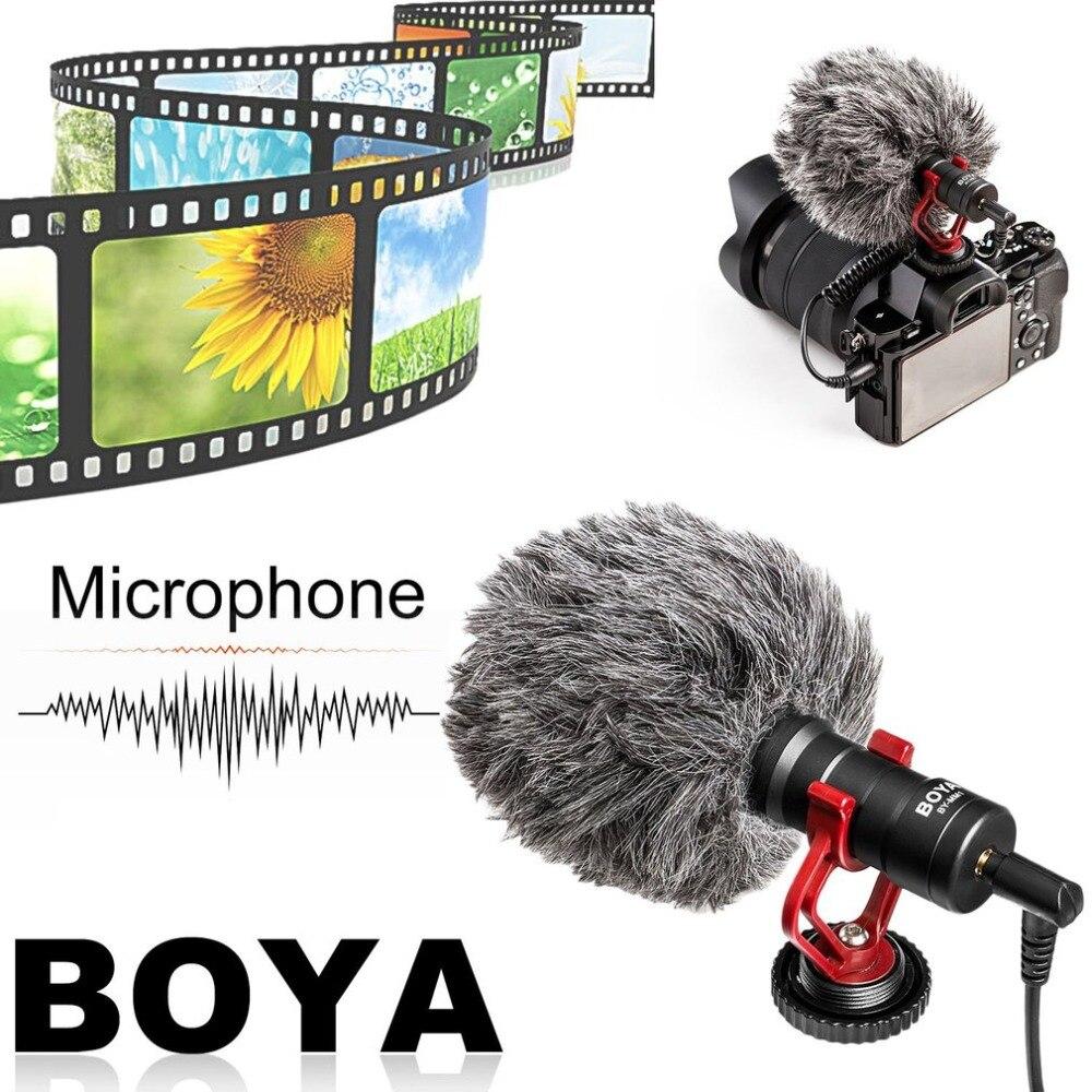 BOYA Compact Sur-Caméra Vidéo Microphone Universel Interview Enregistrement Mic Pour IOS Pour Android Smartphone Pour Appareils Photo REFLEX