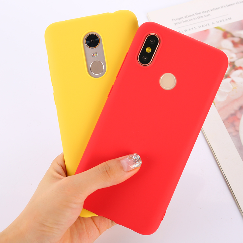 Fashion Soft Candy Cover Case For <font><b>Xiaomi</b></font> <font><b>Redmi</b></font> 4A GO 5 Plus 5A 6A 6 <font><b>Note</b></font> 4 4X 6 <font><b>7</b></font> <font><b>Pro</b></font> <font><b>Global</b></font> <font><b>Version</b></font> Mi 5X A1 6X A2 Lite 8 SE F1 image