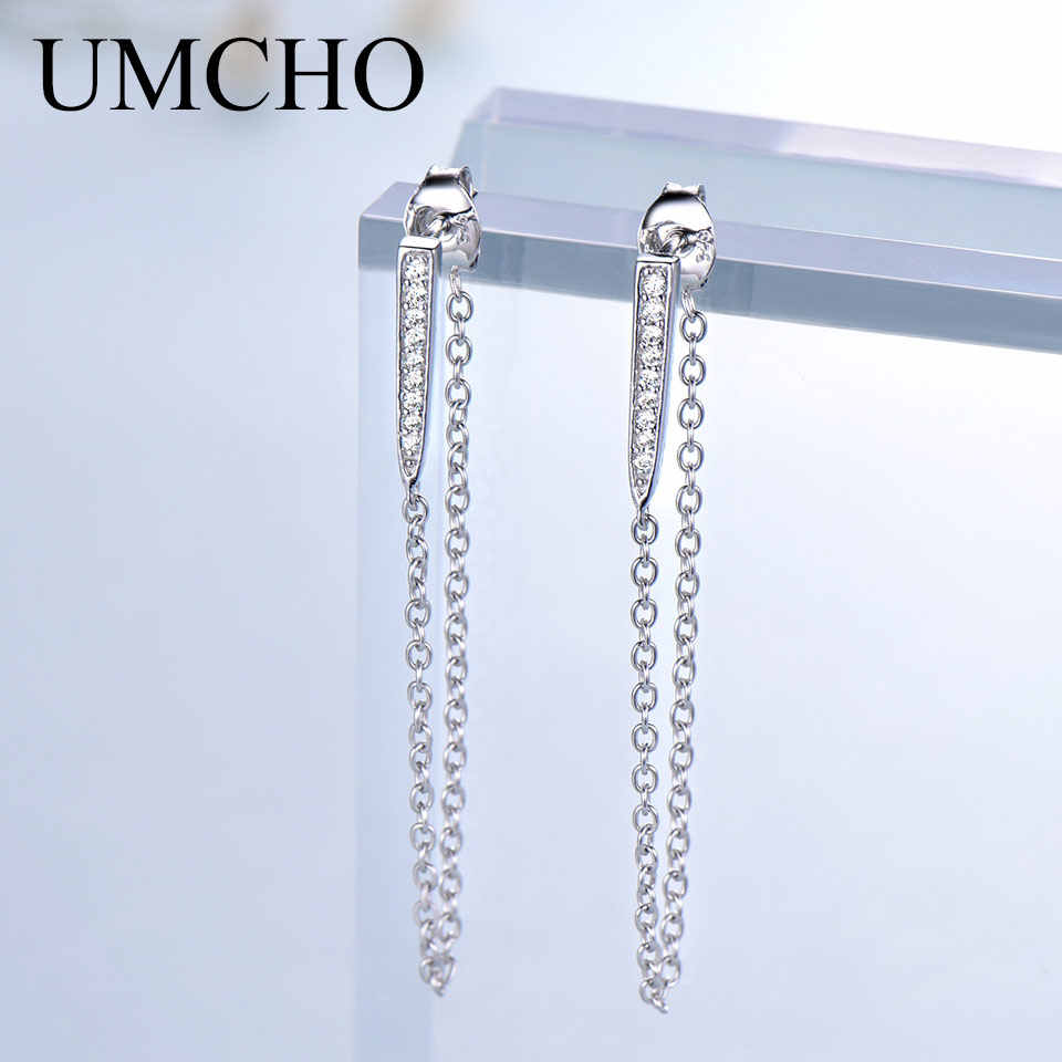 UMCHO Trendy Real 925 Sterling Silver Jewelry Drop Earrings Fashion Style Special Birthday Gifts Party For Women Fine Jewelry