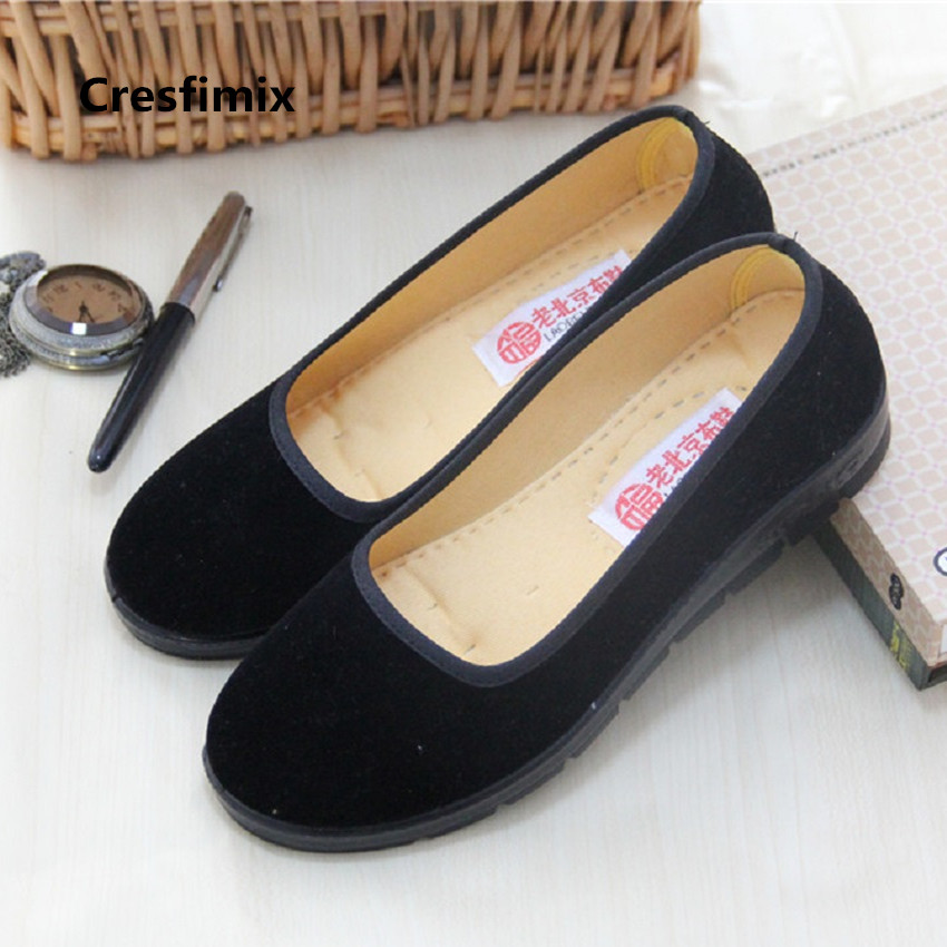Cresfimix femmes appartements women fashion comfortable black slip on dance shoes lady cute sweet shoes retro flat shoes c2593 cresfimix femmes appartements women fashion comfortable mesh breathable flat shoes lady cute beige bow tie shoes zapatos b2859