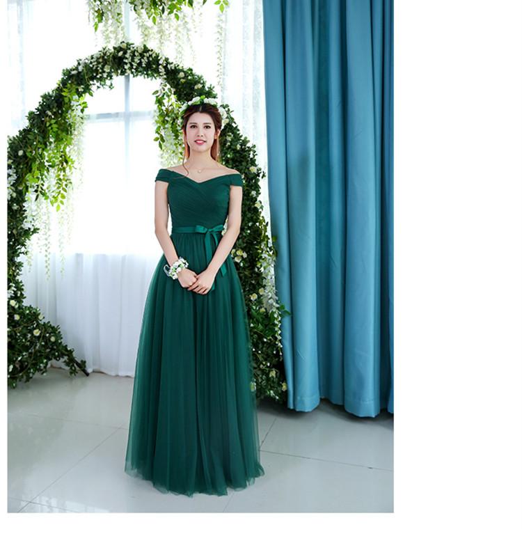 Robe De Soriee Emerald Green Bridesmaid Dress Elegant Bride Party ... caaa91f91240