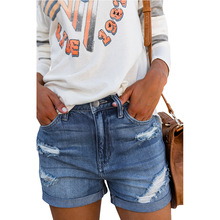 high waist jeans plus size streetwear pants women clothing shorts woman fashion summer pant korean street style
