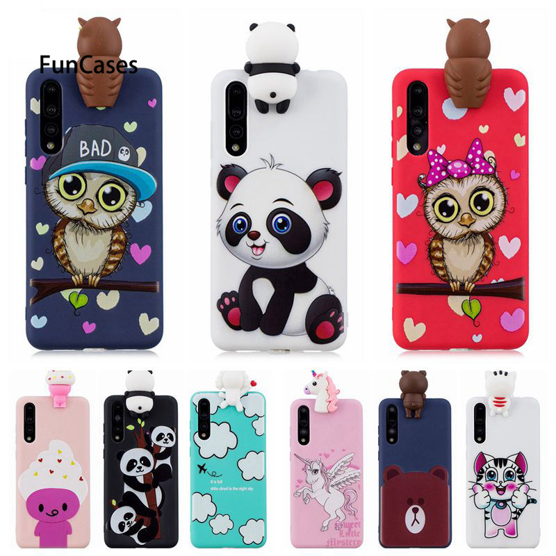 9052ae5294b P20 Lite Phone Bag Case on For Huawei P20 Lite 3D Toys Panda Owl Cartoon  Soft TPU Cover Fundas For Huawei P20 Pro P20Pro Case