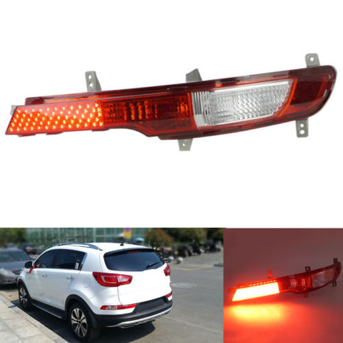 1PC Rear Bumper Fog Lamp Light Left Side Fit For Kia Sportage R 2011-2014 1pcs new oem rh front bumper fog lamp fog light for kia sportage 2014 2015