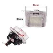 לנץ GLK X204 GLK350 6000 K זוג 24 לוחית רישוי אור שונה עם עמדת המקורי LED לוחית רישוי אור הרכבה