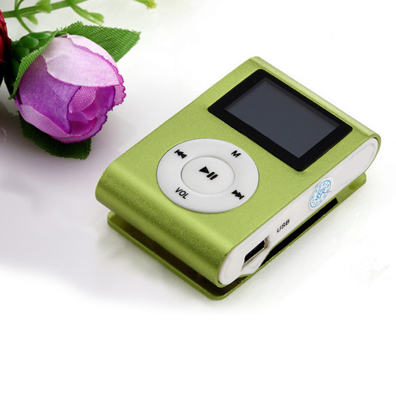 Mini USB Clip HD LCD Small Screen MP3 Player High Quality FM Radio Support 32GB Expansion Micro SD / TF Card GN #10