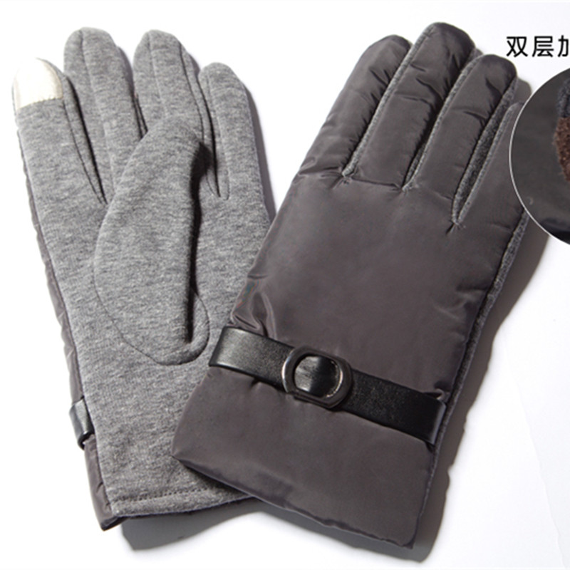 Winter Men Gloves Thicken Warm Thermal Mittens Non-slip Fleece Gloves Outdoor Riding Cycling Skiing Touch Screen Male Gloves