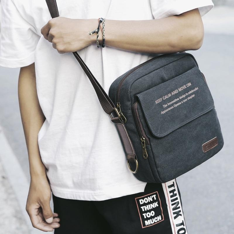 Man Urban Daily Carry Bag High Quality Men Canvas Shoulder Bag Casual Travel Men's Crossbody Bag Male Messenger Bags 3 Size