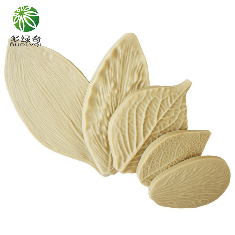 DUOLVQI Arrival 5PCS/Set Fondant <font><b>Cake</b></font> <font><b>Decorating</b></font> <font><b>Tools</b></font> <font><b>Flower</b></font> Making GumPaste Peony Rose Floral Petal Leaf Veiner Silicone Mold image