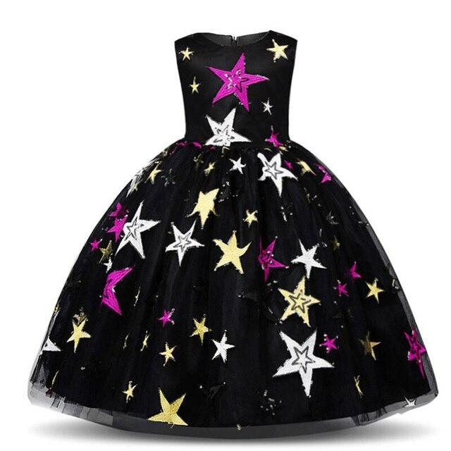 KAVKAS Children's Stars Embroidered Dress For Girls Dress