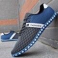 Nuevos 2016 Hombres Zapatos Deportivos Zapatos Para Correr Calzado Casual hombres Pisos Calzado Transpirable Primavera Verano Masculina Envío de La Gota