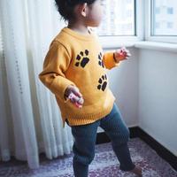 Bawełna Sweter Z Dzianiny Dzianina Sweter Sweter Dla Dzieci Chłopcy Dziewczyna Pies Stóp WD3 Maluszek mały Topy Swetry Dzieci 1-5Y