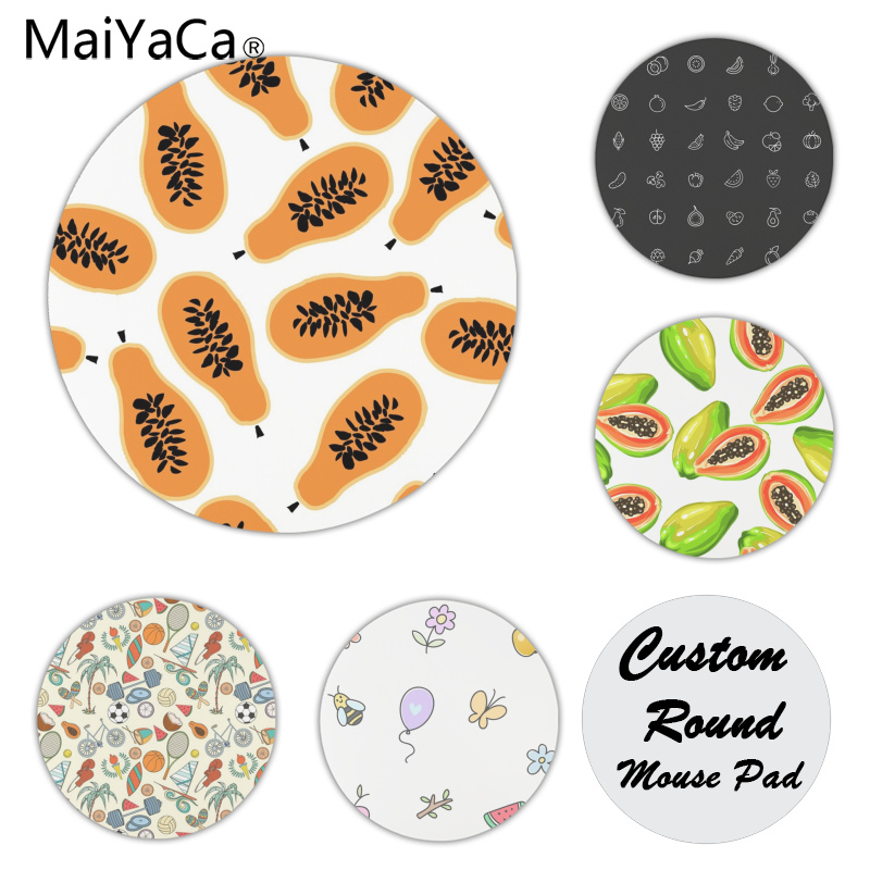 MaiYaCa Ripe Papaya Customized laptop Gaming mouse pad Size for 22x22x0.2cm Gaming Mousepads