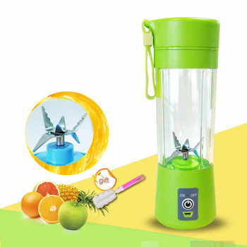 400ml Portable Juice Blender USB Juicer Cup Multi-function Fruit Mixer Six Blade Mixing Machine Smoothies Baby Food dropshipping - DISCOUNT ITEM  46% OFF All Category