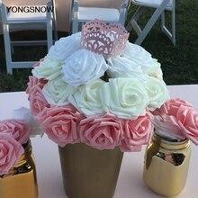 10 шт 8 см искусственные розы цветы для скрапбукинга DIY ремесло PE Поролоновый букет цветов Свадебный цветок поддельные цветы свадебное украшение