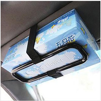 European hanging Type tissue box for car Multifunction car visor tissue holder hanging rack car tissue boxes car decoration