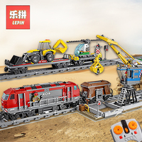 Lepin 02009 02008 City Remote Control RC Train 60098 60052 Model Building Blocks Bricks Educational Toys City Cargo Train Lepin