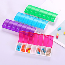NEW HOT Portable 7 Days Weekly Pill Organizer Tablet Storage Box Plastic Medicine Splitters DC88 Health Care Tool