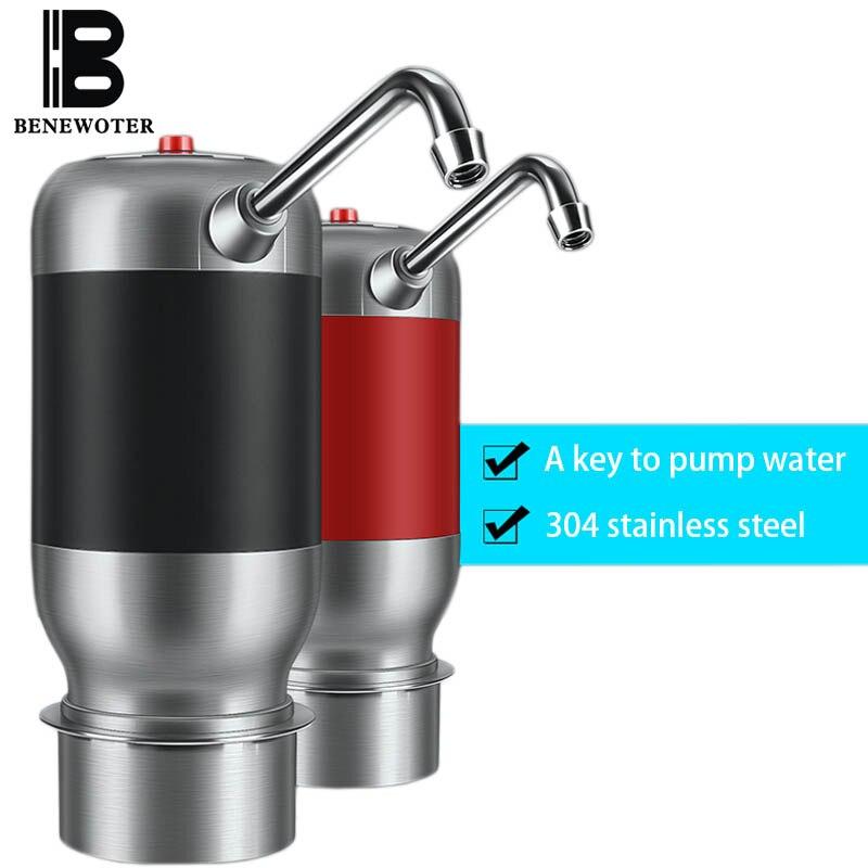 1800 мАч Батарея Портативный путешествия Беспроводной вода Перезаряжаемые бутылка для воды насос Посуда для напитков Бутылки для воды волше…