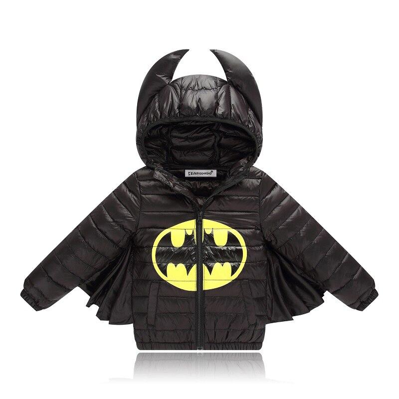 KEAIYOUHUO Пальто с Человеком-Пауком Бэтмен куртка 2018 Новый осень-зима детские пальто для мальчиков теплая детская пуховая куртка с капюшоном дл...