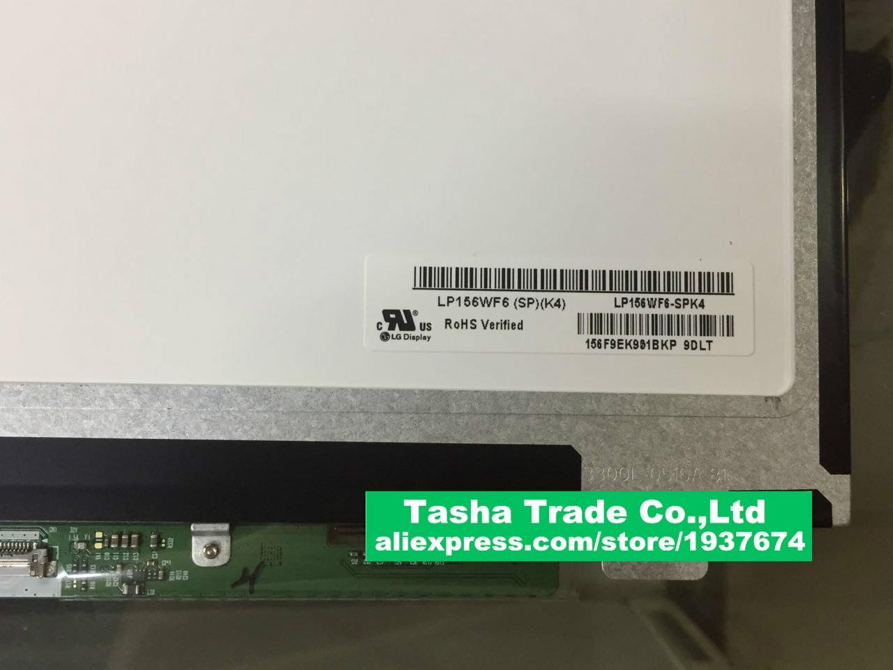 IPS FHD LCD LED Screen LP156WF6  SPK4 LP156WF6 (SP)(K4) LP156WF6-SPK4 Original New Matte matrix saniter lp156wf6 sp a1 b1 k1 h1 ltn156hl01 ltn156hl02 ips high lcd screen