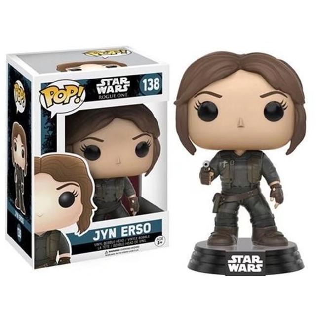 FUNKO POP Star Wars figure  Darth Vader Luke Skywalker Leia action Figures 9cm