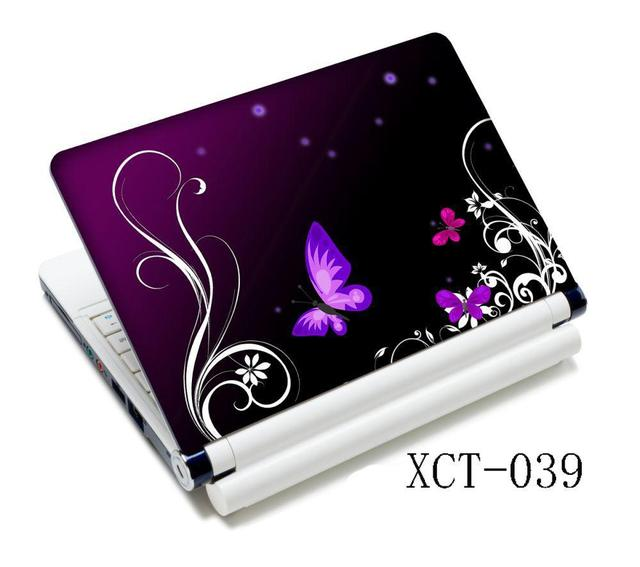 Purple Butterfly Laptop skin notebook computer skins case for 10 12 13 15 15.6 inch for Mac pro