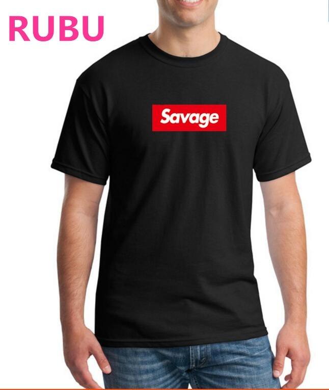 hfhfd2584 RUBU Savages camiseta de fitness hombres y hombres camiseta - Ropa de hombre