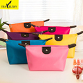 Women Waterproof Cosmetic Makeup Bag Handbag candy colors 1pcs 10colors lady handbag Free Shipping 16601