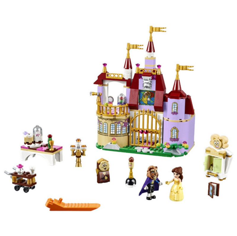 ФОТО 37001 Princess Belles Enchanted Castle Building Blocks For Girl Kids Model Toys blocks Compatible with legos Friends 10565