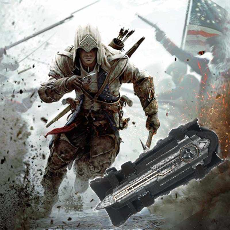 Assassin Road Black Flag Hidden Blade Sleeve Sword Edward Cosplay Props Revolutionary Sleeve Arrow Blade Can Eject gifts