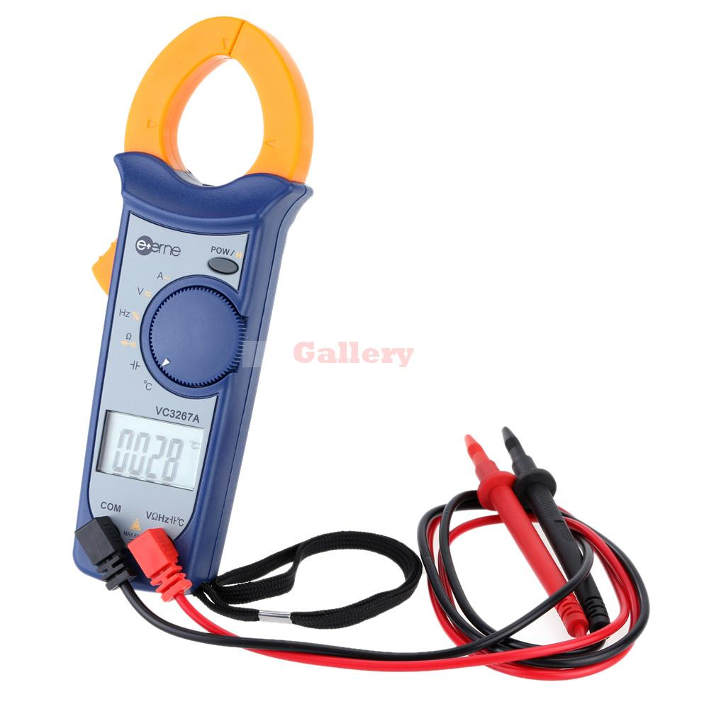 Digital AC/DC Current Voltage Resistance Frequency Clamp Meter Multimeter Temperature Measurement Auto Range  цены