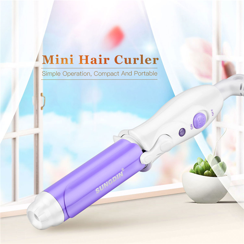 Mini Portable Curling Iron Electric Curler Ceramic Hair Tongs Curls Professional Hair Curlers Large Wave Hair Curler Styler Tool
