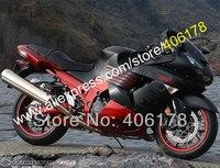 Hot Sprzedaż Dla Kawasaki Ninja ZZR1400 ZX14 R 06 07 08 09 10 11 ZX-14R ZX 14 R 2006-2011 Płomienie Owiewki Zestaw (Formowanie wtryskowe)