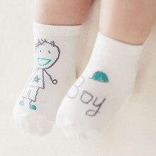 1 пара, унисекс, новые хлопковые носки для малышей, Осень-зима-весна, противоскользящие Асимметричные Милые Носки с рисунком