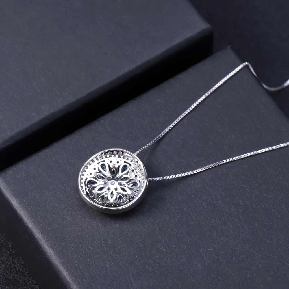 Gem's ballet 3.68ct topázio azul suíço natural 925 sterling sliver clássico pingente colar para mulher noivado jóias finas