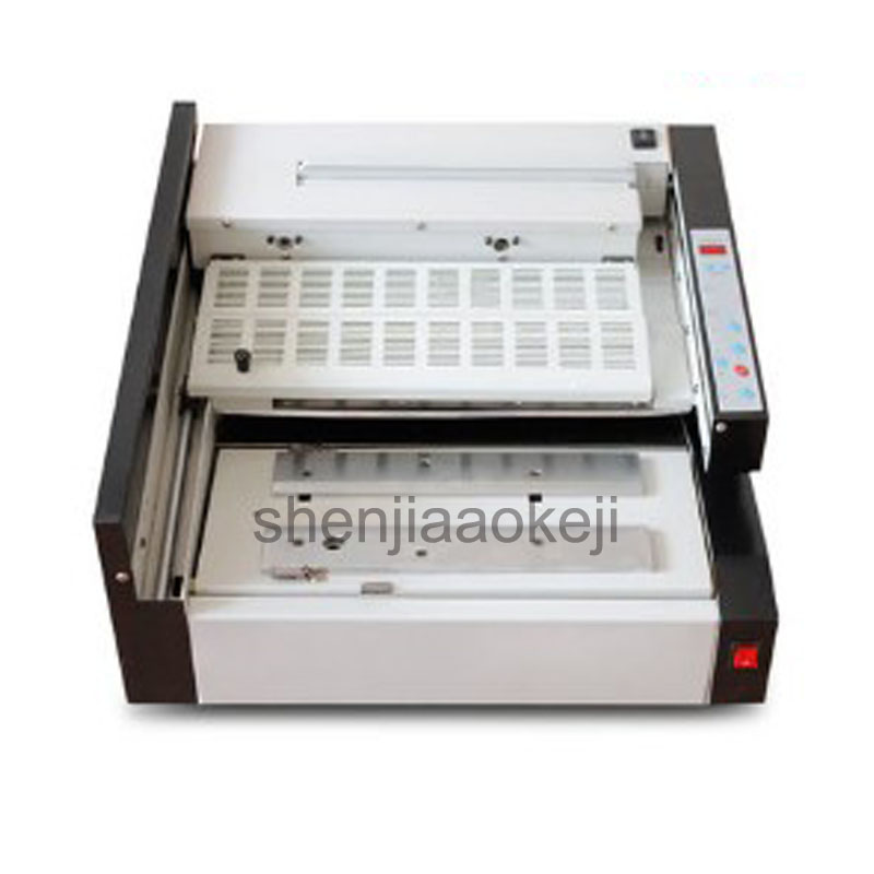 Automatic hot melt binding machine book contract tender envelope electric binding machine A4 paper bookbinder AL