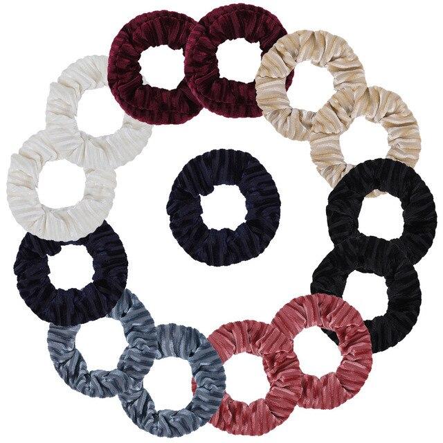 Haimeikang 2019 Novelty Women Hair Accessories Fashion Solid Elastic Rubber Hair Scrunchies Hair Bands For Women Girls
