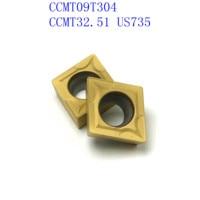vp15tf ue6020 20PCS CCMT09T304 / CCMT32.51 VP15TF / UE6020 / US735 כלי CNC כלי קרביד כלי רכב סיבוב פנימי מחרטה כלי מחרטה כלי (2)