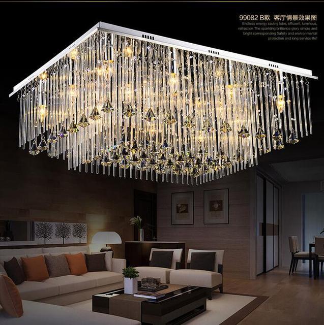 Led kristall lampe modernen minimalistischen restaurant rechteckigen ...