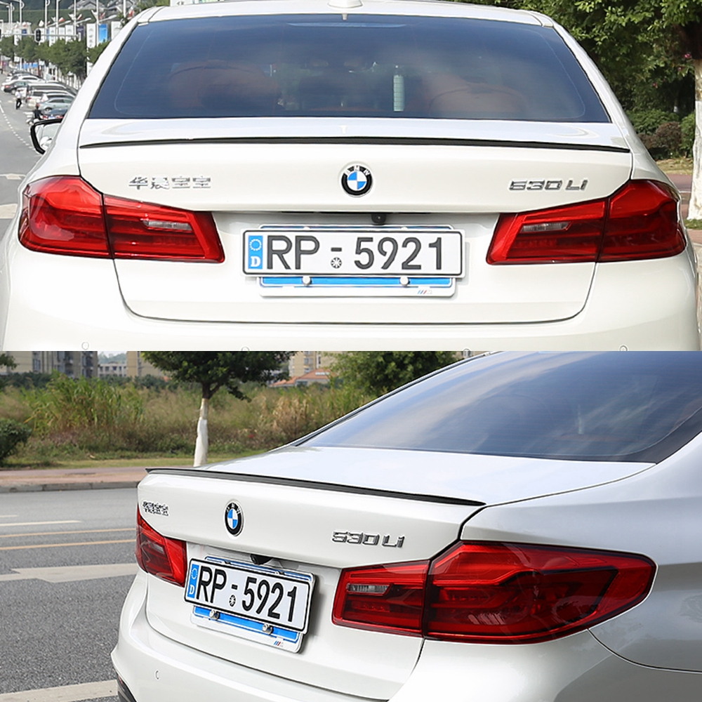 цена на Car Styling ABS Plastic Unpainted Primer Color Rear Trunk Boot Wing Spoiler For BMW G30 G38 M5 520i 528i 535i 530i 525i Spoiler