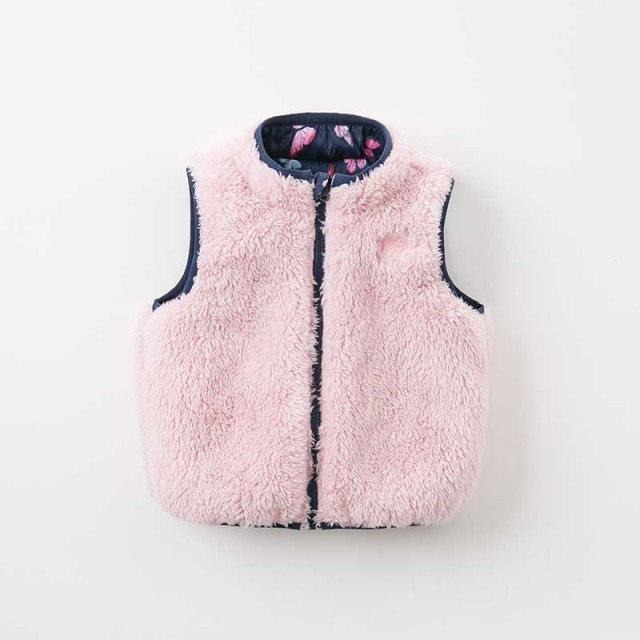 DB9238 dave bella autumn winter reversible unisex baby girls boys clothes children high quality coat kids vest 1 pc