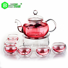 8 pcs Tea Set High Quality 1pc Tea pot   6pcs